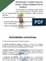 Actividades Preventivas y Correctivas de Seguridad, Higiene