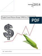 Cash Corn Prices from 1993 to 2013