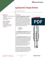 CTA - Centralizing Dynamic Torque Anchor Technical Datasheet