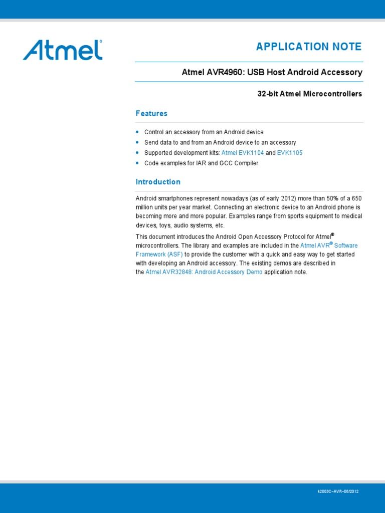 Doc 42003 | Usb | Android (Operating System)
