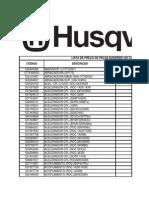 Lista de Preços de Peças Consumidor - Agosto 2014
