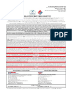 Dominos Pizza India_Draft Red Herring Prospectus of Master Franchisee Jubilant Foodworks_October '09