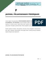 AKNOP Sungai Riau - F. Jadwal Pelaksanaan Pekerjaan