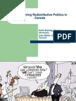 Transforming Redistributive Politics in  Canada