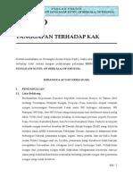 AKNOP Sungai Riau - D. Tanggapan Terhadap KAK