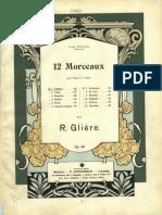Gliere 12 Morceaux Op.48 Piano 4 Hands