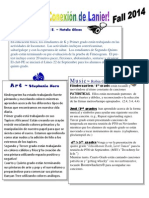 Connections Newsletter Fall 2014 Spanish