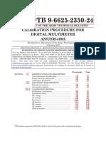 Calibration Procedure for Digital Multimeter An_usm-486a - Tb-9-6625-2350-24