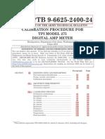 Calibration Procedure for Tpi Model 275 Digital Amp Meter - Tb-9-6625-2400-24