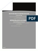 Whirlpool Bottom-Mount Refridgerator Use and Care Guide