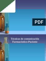 Tecnicas de Comunicacion Farmaceutico Paciente