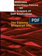 SCIENCE OF SELF REALISATION