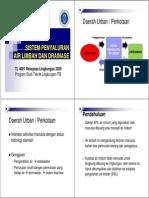 Sistem Penyaluran Air Limbah Dan Drainase 1