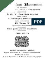 1. BREVIARIUM ROMANUM Ex Decreto Sacrosancti Concilii Tridentini Restitum S. Pii v. Pontificis Maximi (1)