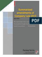 Law 2013 Amendments- Memorendums