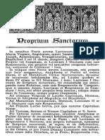 5. Proprium Sanctorum