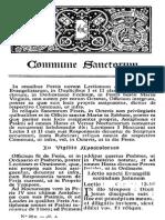 6. Commune Sanctorum
