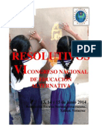 Resolutivos Vi Congreso Nacional de Educación Alternativa Cnte