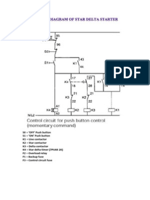 Typical Circuit Diagram Of Star Delta Starter Relay Equipment