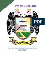 Plan de Desarrollo Concertado Del Distrito de Aucallama 2012