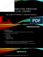 Employee Turnover Rate in Call Centres