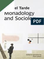 Tarde Gabriel, Monadology and Sociology