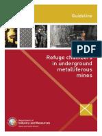 WA Guideline Refuge Chamber