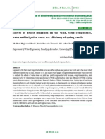 Effects of deficit irrigation on the yield, yield components, water and irrigation water use efficiency of spring canola