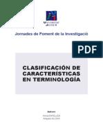 1.Clasificación de Características en Terminología