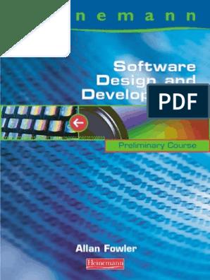 Heinemann Software Design And Development Software Development Usability