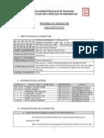 Programa Derecho Empresario II