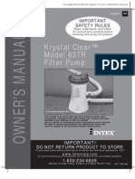 Manual de Bomba Krystal Filter Pump