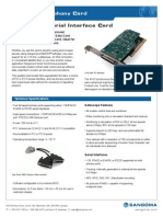 Sangoma A142 Series Synchronous Dual Serial Card Datasheet