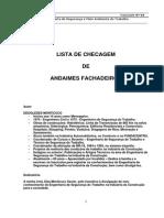 CheckList - Andaime Fachadeiro