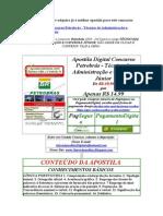 Apostila Digital Concurso Petrobrás - Técnico de Administração e Controle Júnior Gratis Baixar Download 2009 2010