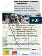 Ward 18 Sustainable Transportation Poster
