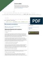 Definición de Estructura Financiera de La Empresa. Diccionario Económico - Expansion