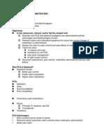 PCA and Epidural Presentation Outline 2014