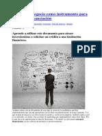 El Plan de Negocio Como Instrumento Para Conseguir Financiación