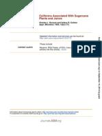 Coliformes Asociados a La Caña de Azucar Plantas y Jugos de Azucar