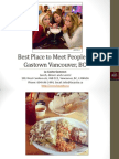 Best Place to Meet People in Gastown Vancouver British Columbia