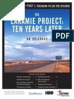 Audience Guide to Laramie Epilogue