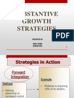 Substantive Growth Strategies
