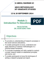 Module 1- Introduction to Educational Research