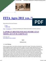 Laporan Bioteknologi Pembuatan Media Kultur Jaringan - Uncategorized - - Fita Agro 2011 Yes.