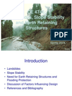 Landslide and Slope Stability