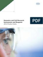Catalogo de Genomica ROCHE 2014