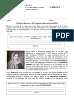 Rol de Las Mujeres en El Proceso de Independencia de Chile