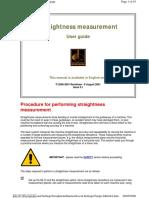Straightness Measurement