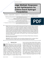 Robust Design Multiple Responses Modeling and Optimization for Microemulsion-based Hydrogel Formulation